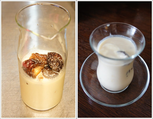 干し椎茸豆乳